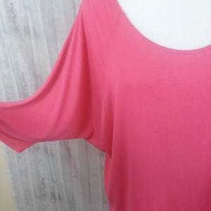 Nally & Millie Tops - Nally & Millie pink 3/4 sleeve top size XL